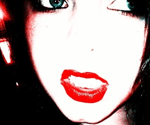eyes, lips, and vintage image