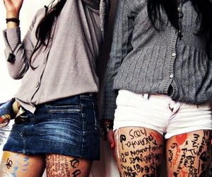 clothes, friendship, and girls image