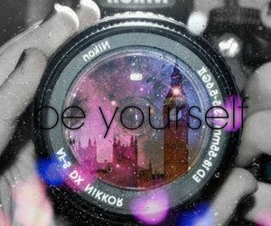 be yourself, camera, and london image