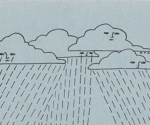 clouds, rain, and sad image
