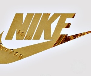 nike, gold, and sport image