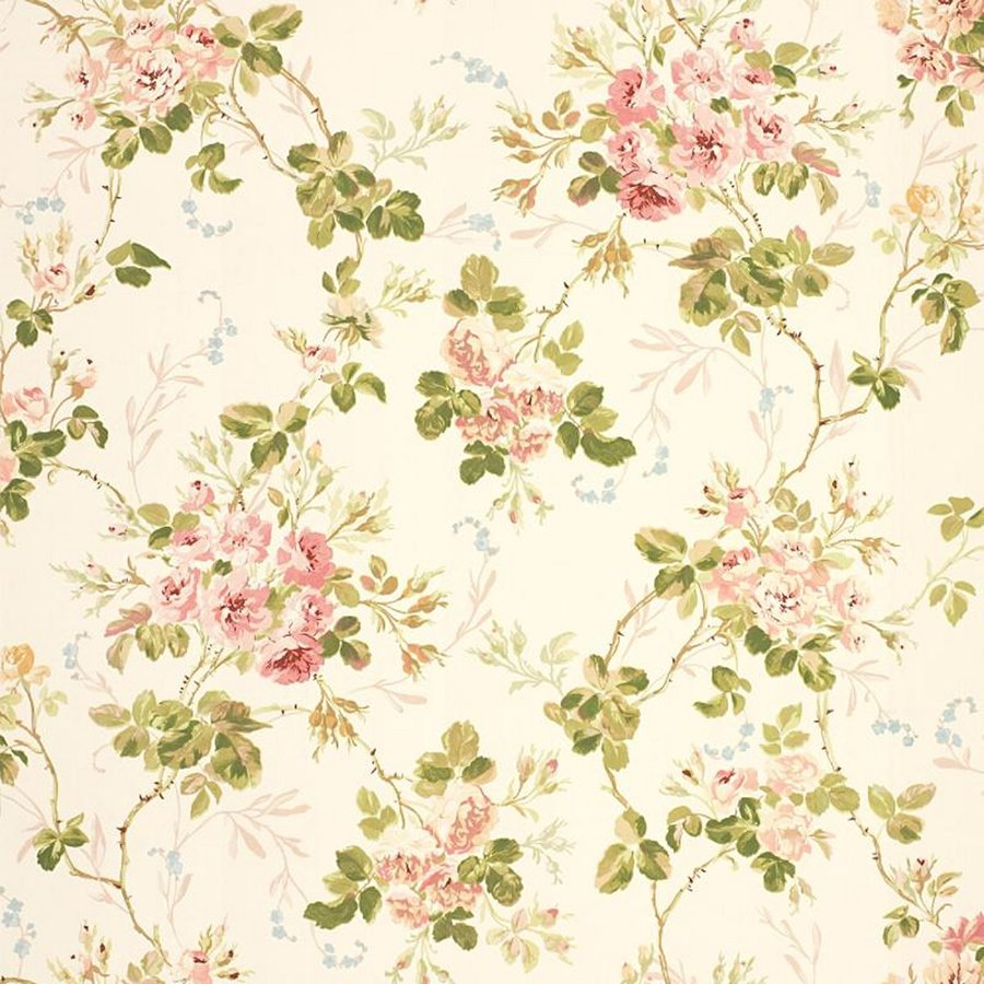 Yellow Floral Background Vintage