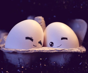 love, cute, and eggs image