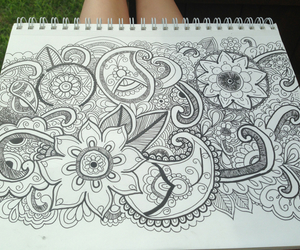 doodle, drawing, and paisley image