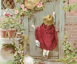 art, door, and fairytale image