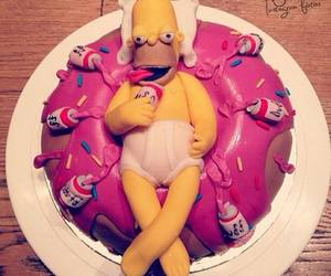 cake, food, and simpsons image