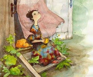 aquarela, illutration, and watercolor image