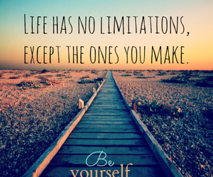 life, be yourself, and quote image