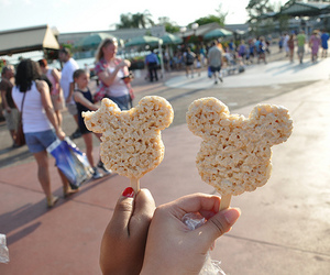 disney, food, and mickey mouse image