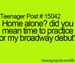 teenager post, funny, and alone image