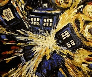 doctor who, tardis, and vincent van gogh image