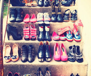 shoes, cat, and heels image