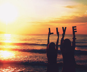 live, beach, and sunset image