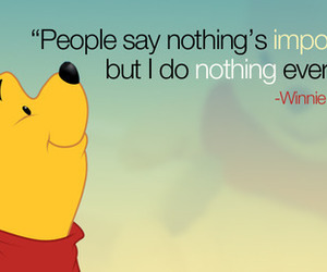 winnie the pooh, quotes, and nothing image