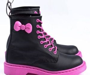 boots, hello kitty, and pink image