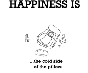 happiness and pillow image
