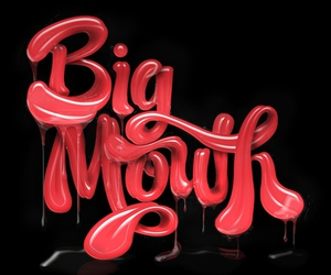 mouth, red, and typography image