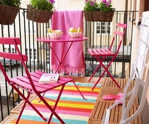 pink and balcony image