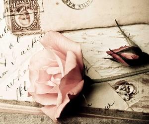 vintage, rose, and Letter image
