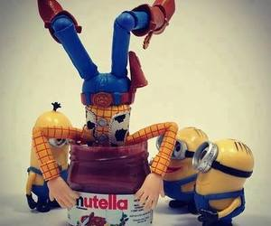nutella, minions, and woody image