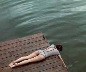 girl, water, and lake image