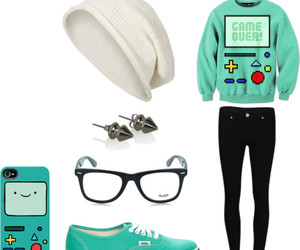 sweater, vans, and beemo image
