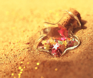 sand, cute, and bottle image
