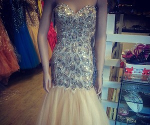dress, ball gown, and evening dress image