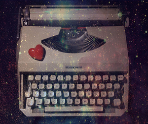 magical, typewriter, and vintage image