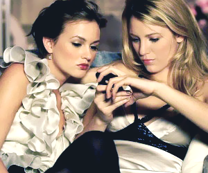blair, cell phone, and leighton meester image