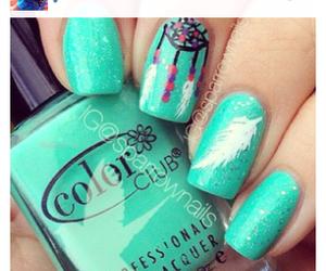 fashion, green, and nails image