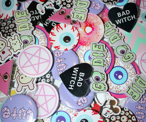 pastel goth, grunge, and kawaii image