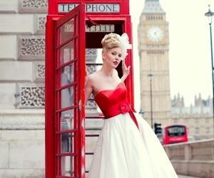 dress, london, and red image
