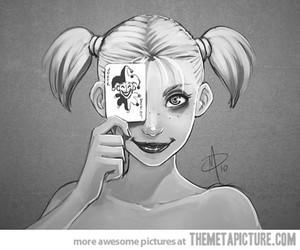 harley quinn, joker, and funny image