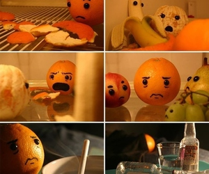 orange, funny, and banana image