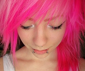 awesome, Piercings, and pink image