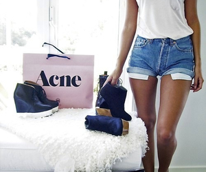 girl, acne, and shorts image