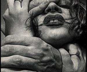 girl, hands, and face image