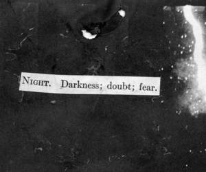 night, fear, and Darkness image