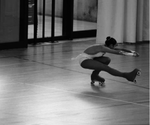 artistic, rollerskating, and love image