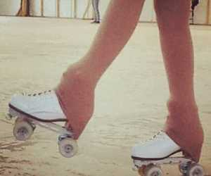 love, artistic, and rollerskating image