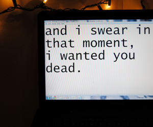 dead and text image