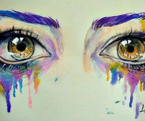 eyes, art, and colors image