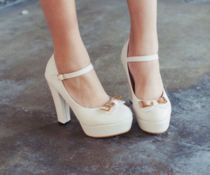 shoes, bow, and fashion image