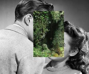kiss, boy, and nature image
