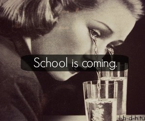 cry, school, and sad image
