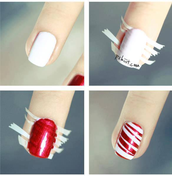 How To Make Red Stripe Nail Art Step By Step Diy Instructions How