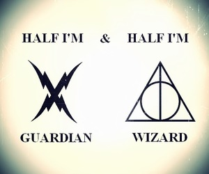 deathly hallows, guardian, and harry potter image