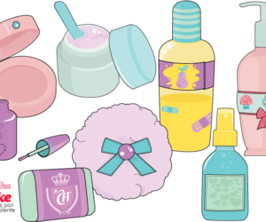 cosmetics, cream, and illustration image