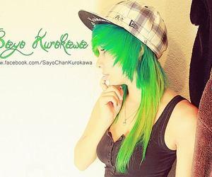 girl, green hair, and cute image